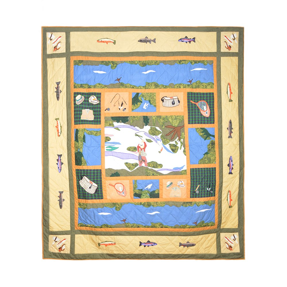 Patch Magic Fly Fishing Quilt