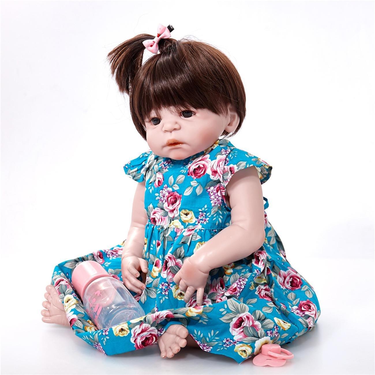 Reborn Puppe Schöne Baby Silikon Geschenk Frühe Bildung Neugeborene Babys Vorschulkind Geschenk Spielzeug als Kinder Playmates Geburtstagsgeschenk , C