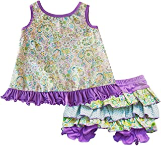 product image for Cheeky Banana Baby/Toddler Girls Aria Swing top & Bloomers Lavender