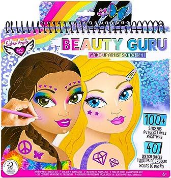 Fashion Angels 40 Sketch Pages Make-up Artist Book