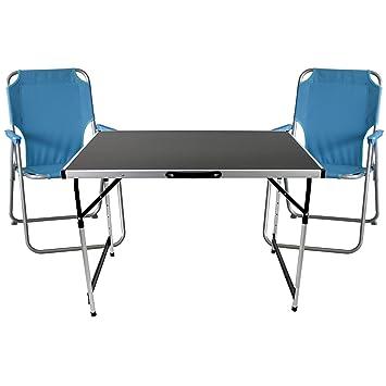 3 piezas. Camping Juego de muebles muebles playa Asiento Grupo ...
