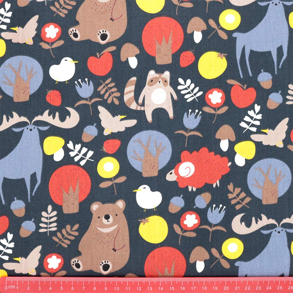 Multicolor Hanjunzhao Zoo Animals Fat Quarters Fabric Bundles,100/% Cotton Quilting Fabric for Sewing Crafting,18 x 22