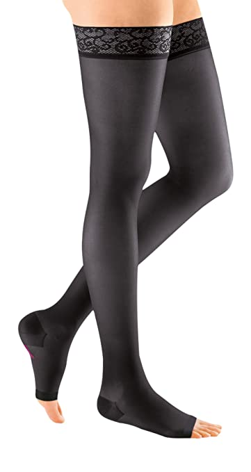 mediven sheer & soft, 30-40 mmHg, Thigh High Compression Stockings, Open