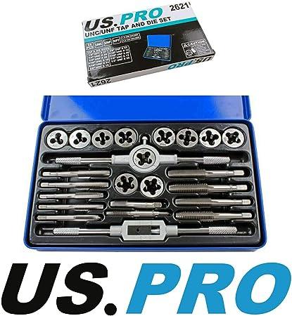 US Pro 24PC UNC//UNF tarauds et fili/ères 2621