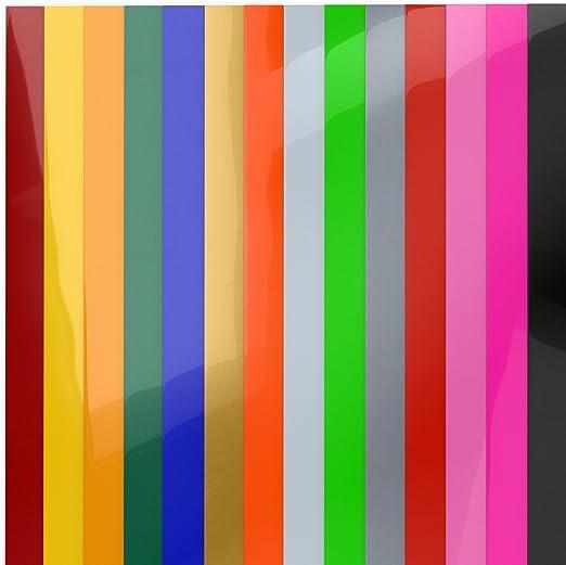 Arteza Papel de vinilo textil imprimible | Hojas de vinilo de papel transfer para camisetas y tejidos varios (25,4 x 30,5cm) | 14 colores surtidos: Amazon.es: Hogar