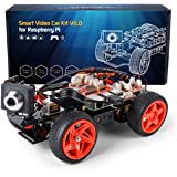 SunFounder Smart Video Car Kit V2.0 PiCar-v Raspberry Pi 4 Model B 3B+ 3B 2B Graphical Visual Programming Language,Video Transmission,Remote Control by UI on Windows Mac Web Browser with Detail Manual