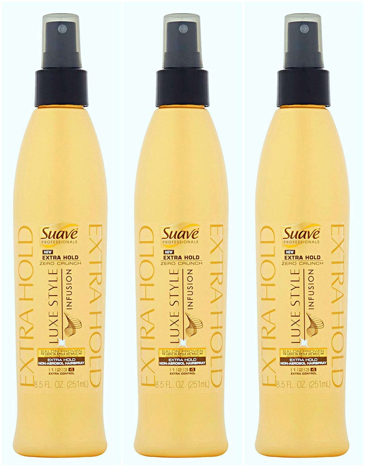 Suave Professionals Luxe Infusion Extra Hold Non Aerosol Hairspray 8.5 oz - (3 - Pack)