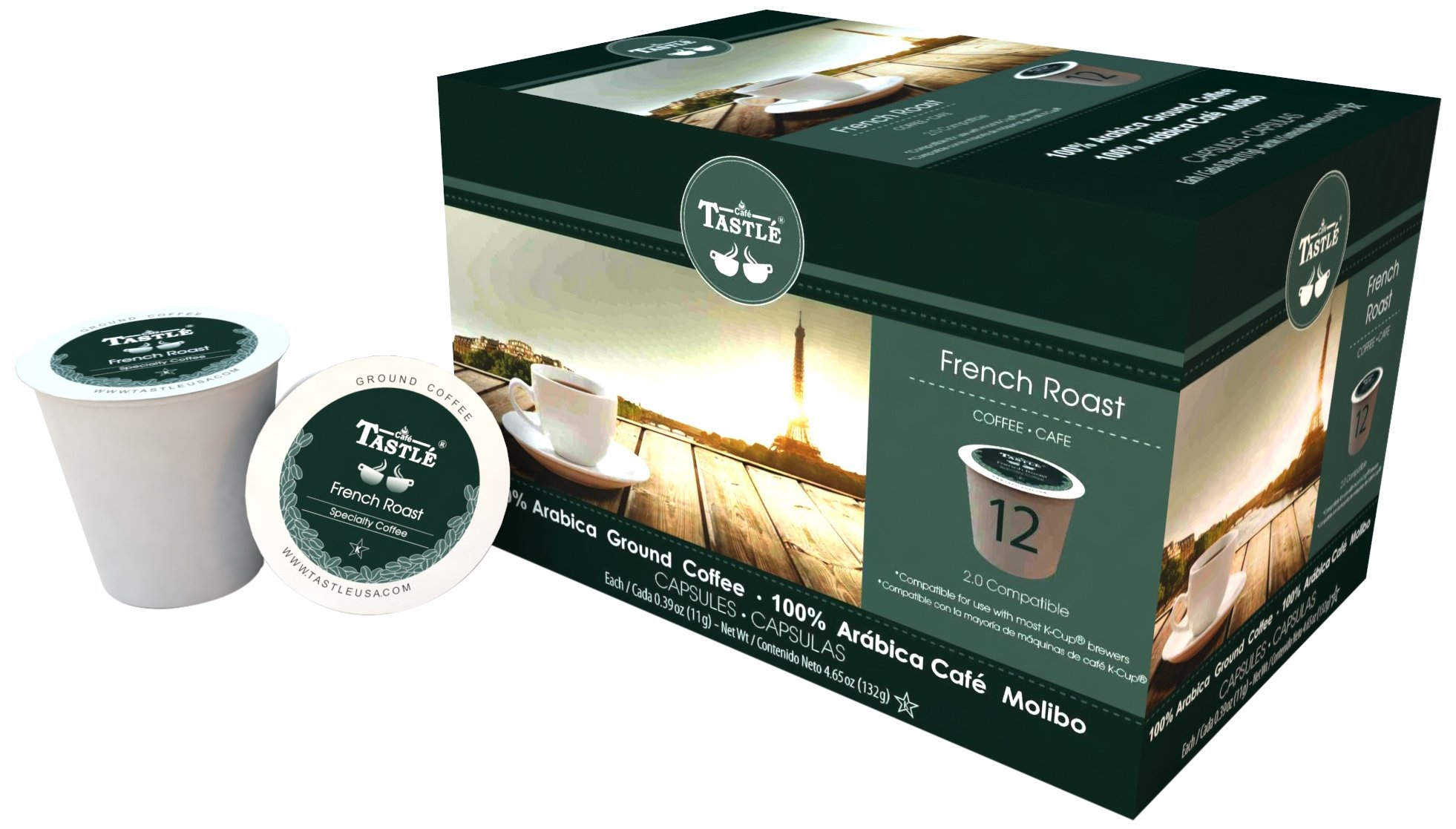 Cafe Tastlé French Roast Single Serve Coffee, 72 Count (Pack of 6)