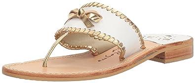 e64692f45 Jack Rogers Women s Adeline Dress Sandal White Gold 6 ...