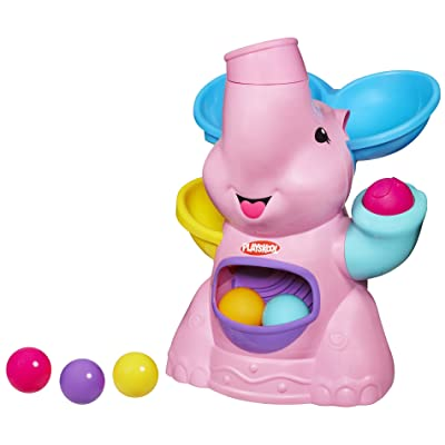Pla Pop Pink Elephant Busy Ball Popper 37054: Toys & Games