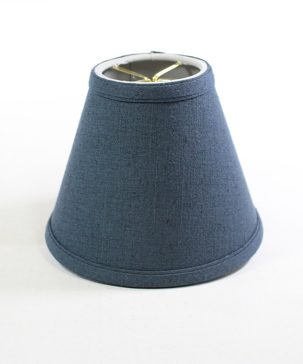 3x5x4 Blue Clip-on Candlelabra Shade By Home Concept - Perfect for chandeliers, foyer lights, and wall sconces -Small, Textured Blue Slate