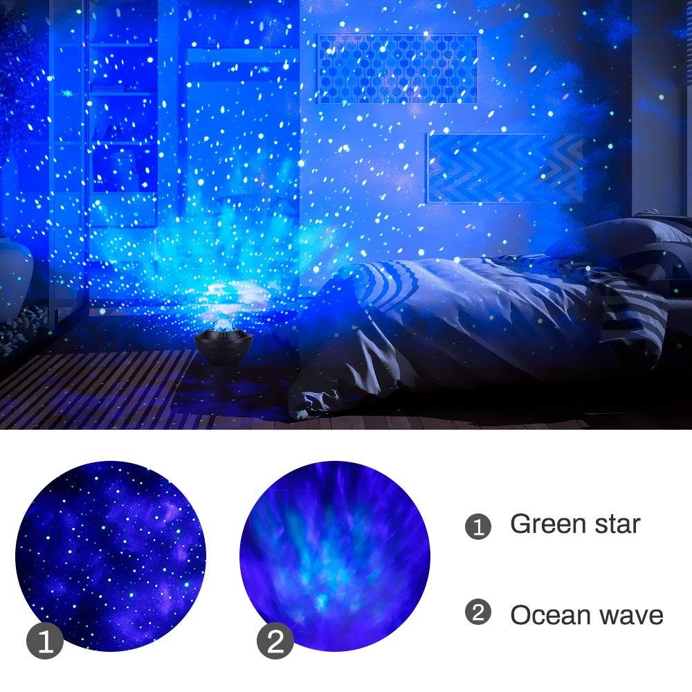 Powcan de proyector Night Light,360 Grados Lámpara de proyector ...