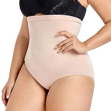 905a310882 DELIMIRA Women s High Waist Tummy Control Panties Body Shaper Seamless  Shapewear Beige.