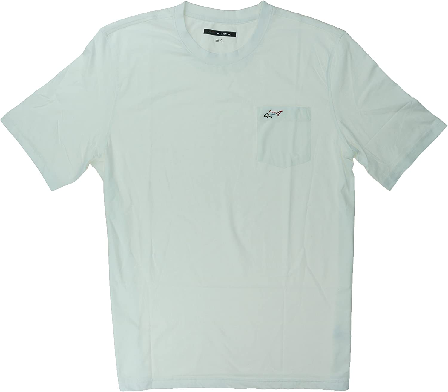 Greg Norman Men's 100% Cotton T-Shirt with Chest Pocket