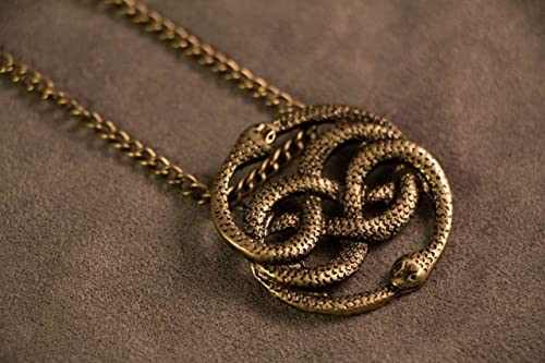 Auryn necklace pendant gold tone inspired by the neverending story auryn necklace pendant gold tone inspired by the neverending story mozeypictures Choice Image