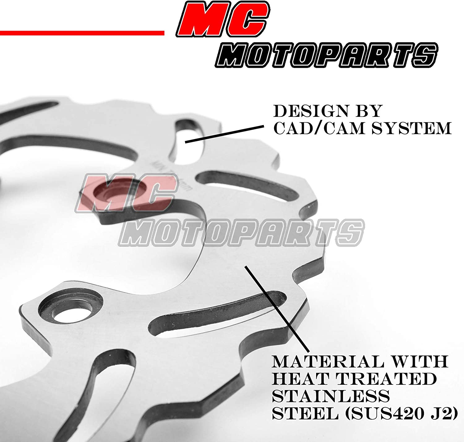 MC MOTOPARTS Rear Brake Disc Rotor 1 Piece For Honda CBR 900RR 1992-1999 93 94 95 96 97 98 99