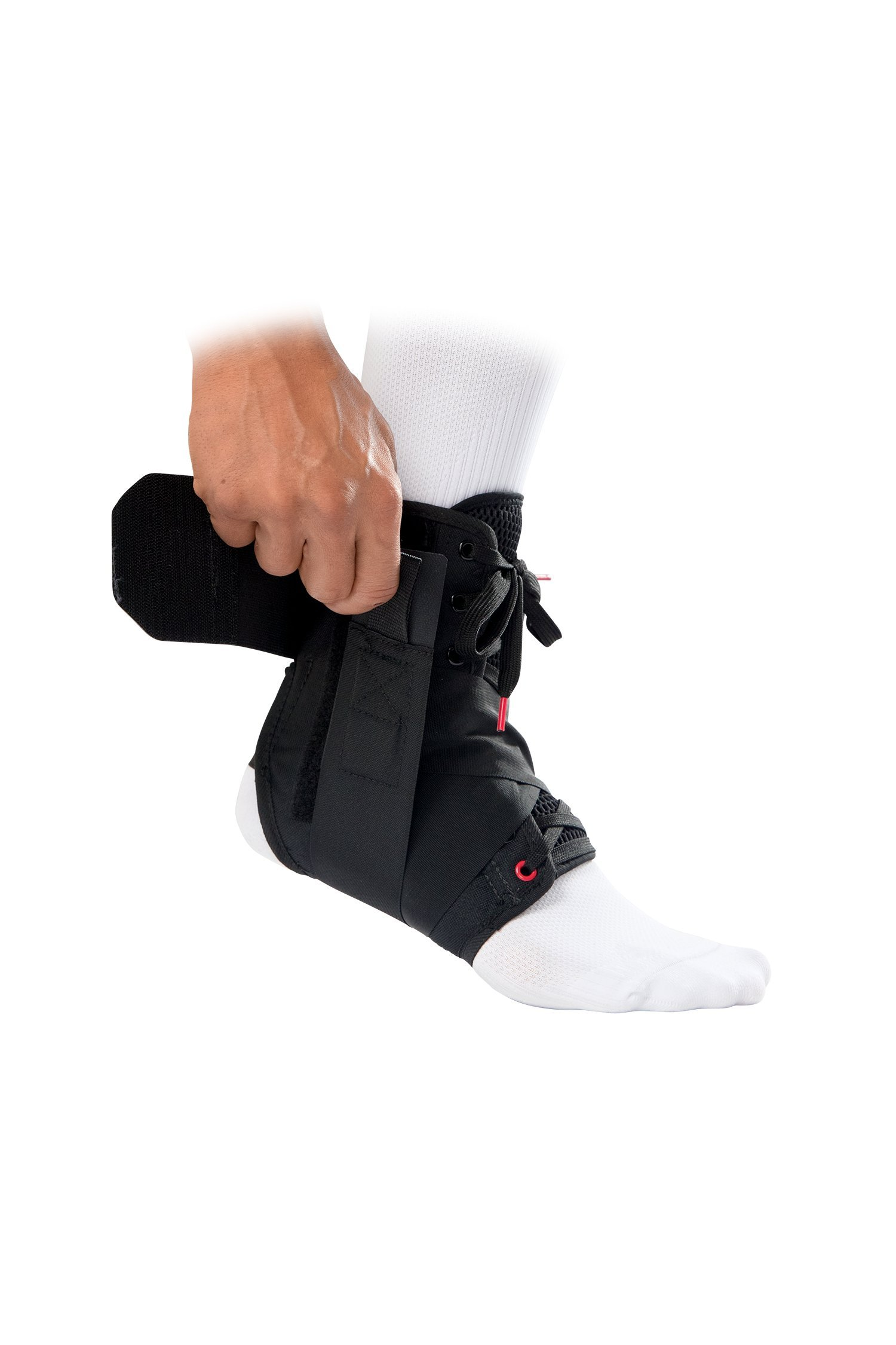 McDavid Level 3 Ankle Brace with Straps, Gray, X-Small by McDavid (Image #4)