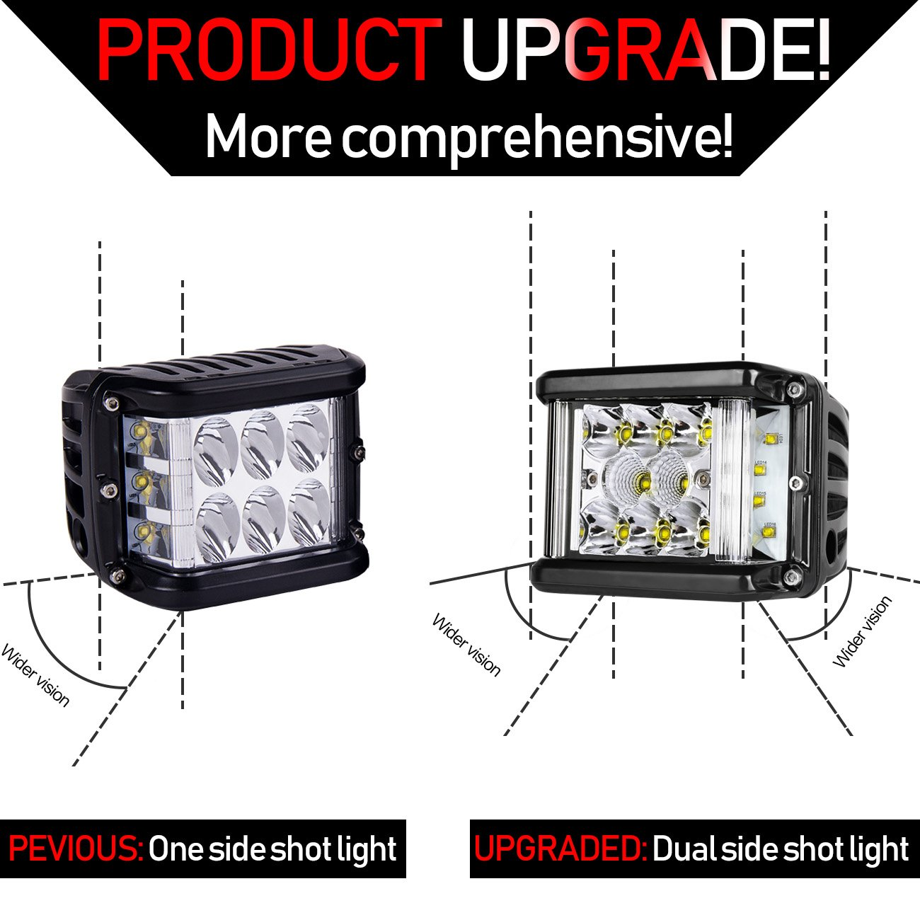 Side Shooter Led Lights Auto Power Plus 2pcs 4 Inch 90w Wiring Diagram For Dual Light Bars Free Download Cube Shot Pods Off Road Row Work Bar Ip 68 Waterproof Driving