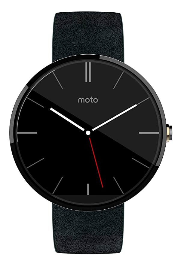 Motorola Moto 360 Leather Band SmartWatch Black - 18mm - Pre-Owned