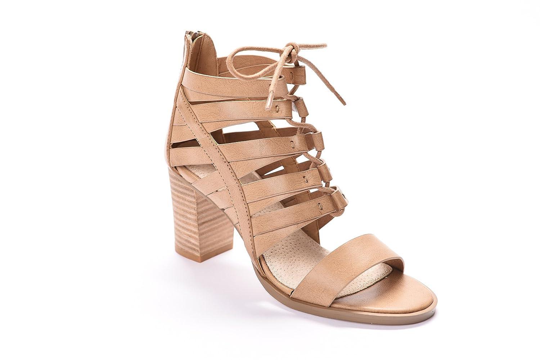 Andrew Stevens Women's Julissa High Heeled Sandal (8, Tan)