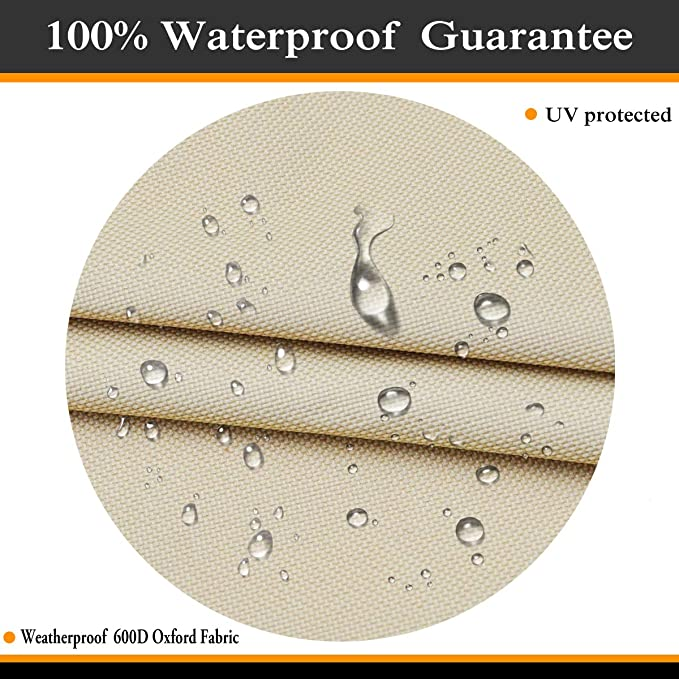 600D Heavy,100/% Waterproof,,Air Vents Outdoor Fire Pit Table Cover 30 inch