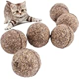 VWH 2pcs Grass Color Cat Mint Ball Coated with Catnip Play Toys for Pet Kitten
