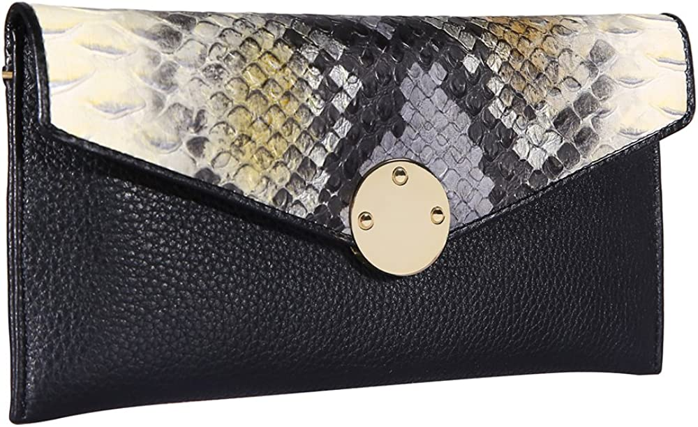 HisLee RFID Blocking Womens Wallets Long Purse Genuine Leather For Credit Card Bags