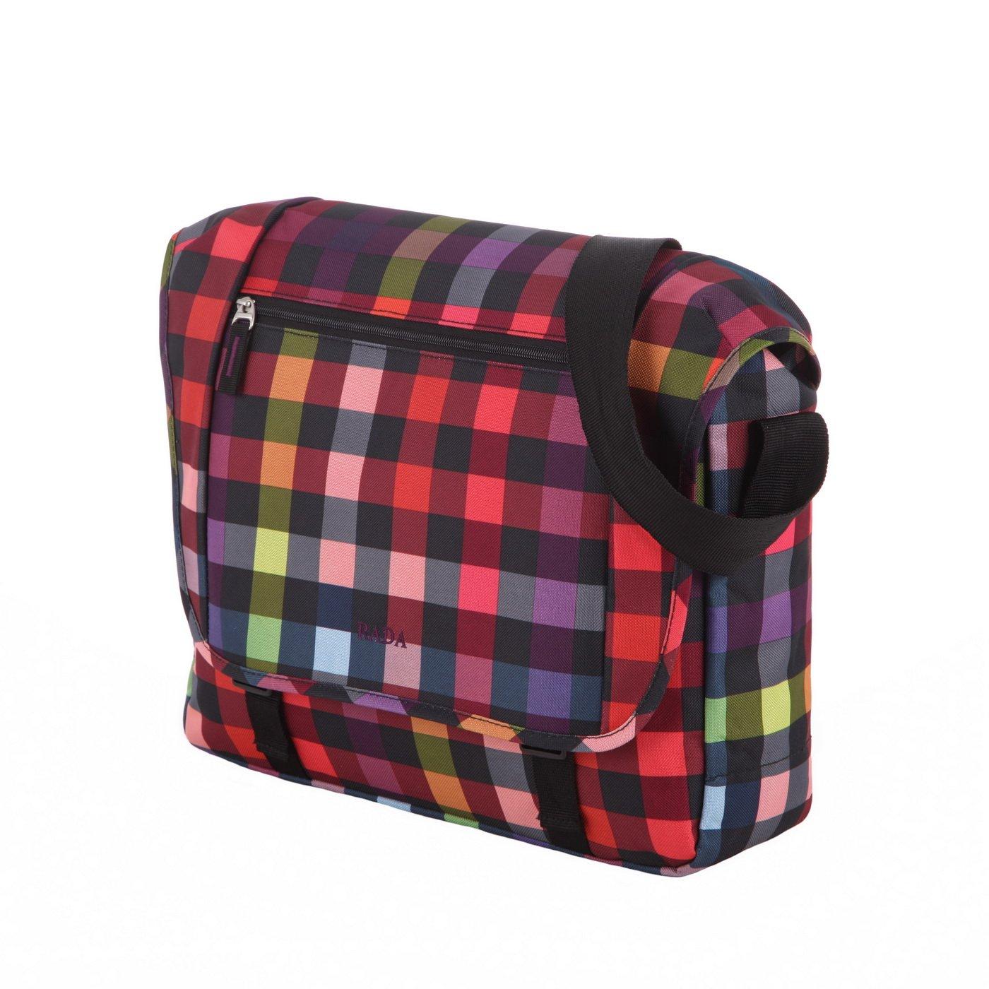 Rada Umhängetasche CT/2/L, Wasserabweisende Laptoptasche für Macbooks und Laptops bis zu 16 Zoll, Umhängetasche für Damen und Herren (Maße: 38x31x9cm) (anthra2tone)