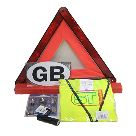 Amazon Com Travel Abroad Euro Warning Triangle Kit European Driving