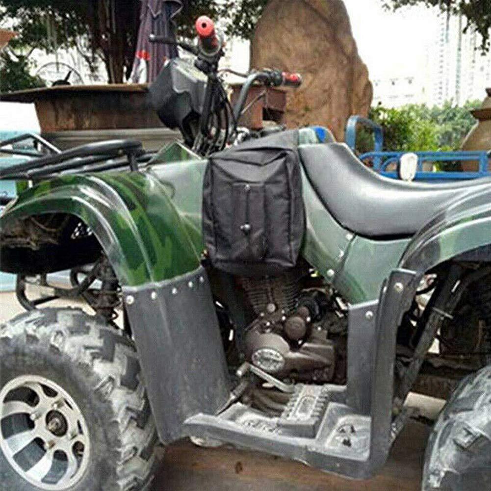 Noir ulofpc Sacoches de Moto Sacoches de v/élo Sacoches lat/érales /étanches Ajustement Universel pour Scooter VTT//UTV Quad