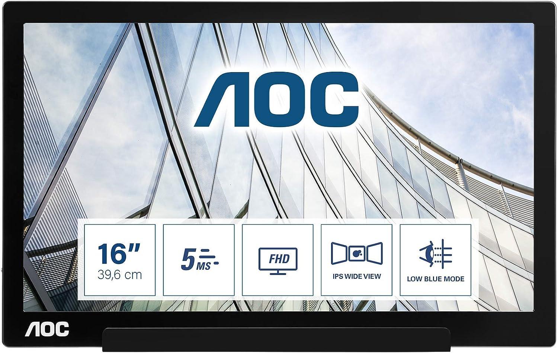 Aoc I1601fwux 16 Zoll Tragbarer Fhd Usb C Monitor Computer Zubehör