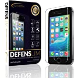 Best iPhone SE / 5 / 5C / 5S Screen Protector Tempered Glass - iPhone SE / 5 / 5c / 5s Shatter Resistant Invisible Shield - Ballistic Ultra-Clear Screen Protector - HD Gorilla Glass - Case Compatible