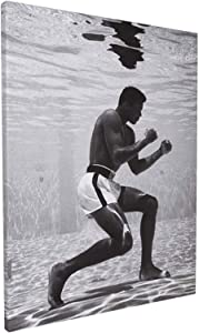 M-uhammad A-li Poster Standard Size Muhammad Ali Underwater Boxing Sports Posters Wall Poster Print Wall Art Home Decor living room bathroom bedroom gift, 12*16 inch