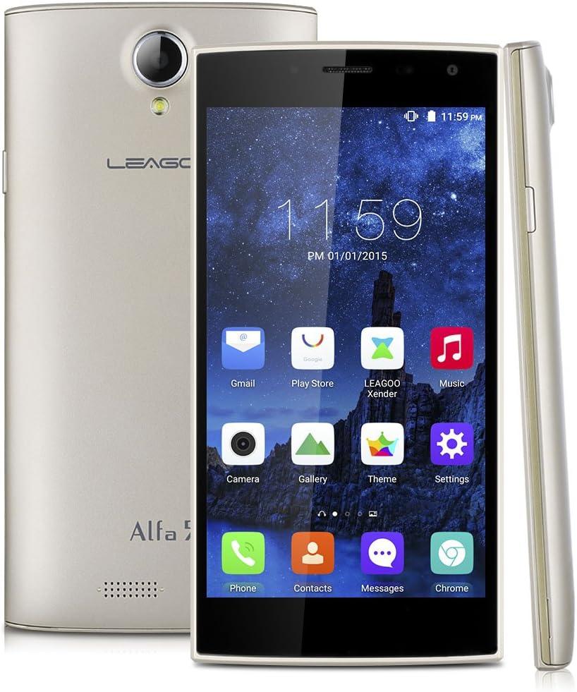 LEAGOO Alfa 5 - Smartphone 3G Libre Android 5.1 (Quad Core, Pantalla 5.0