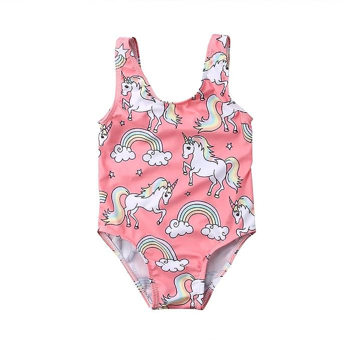 Amazon.com: Bebé recién nacido niña unicornio Bañador ...