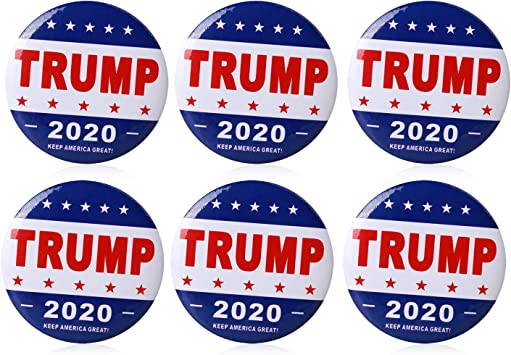 Lot of 50 President Donald J.Trump 2020 *MADE IN USA* Patriotic Lapel Pin WHITE