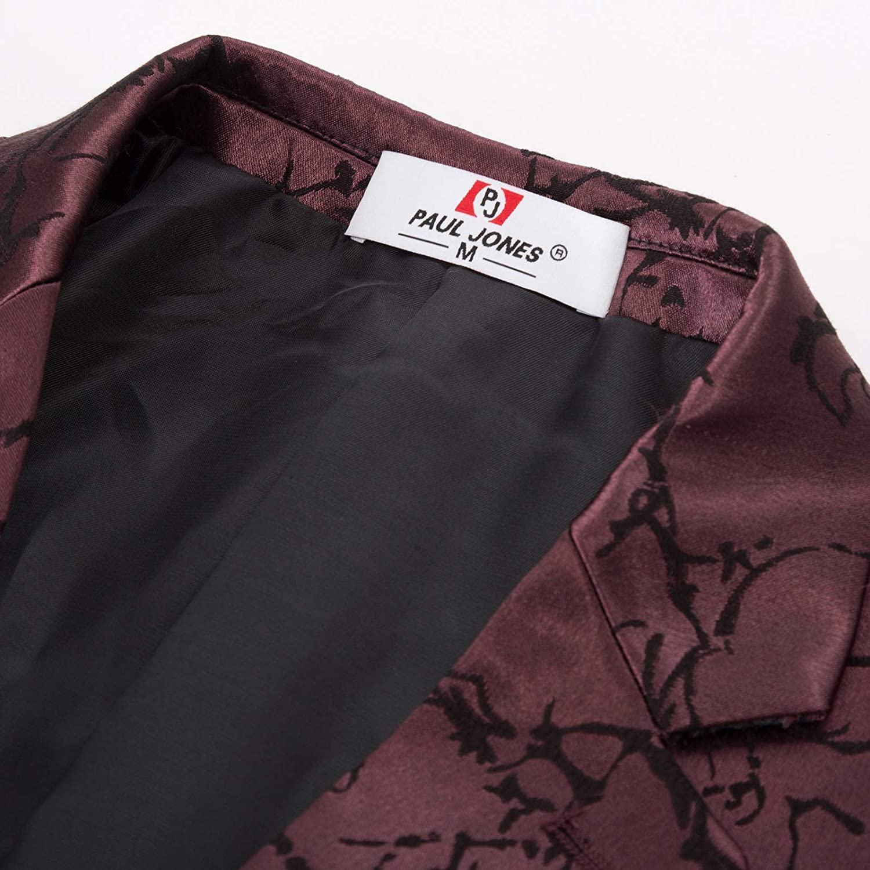 PAUL JONES Mens Stylish Slim Fit Luxury Jacquard Suit Separate Blazer, Pant