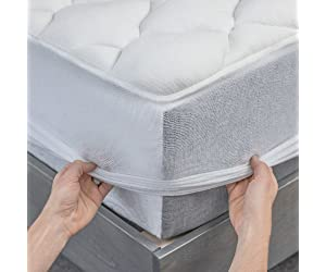 Bamboo Mattress Pad with Fitted Skirt - Extra Plush Cooling Topper