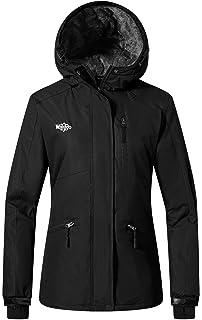 db8610df67c9 Wantdo Women's Ski Jacket Mountain Raincoat Hooded Parka Waterproof Winter  Coat