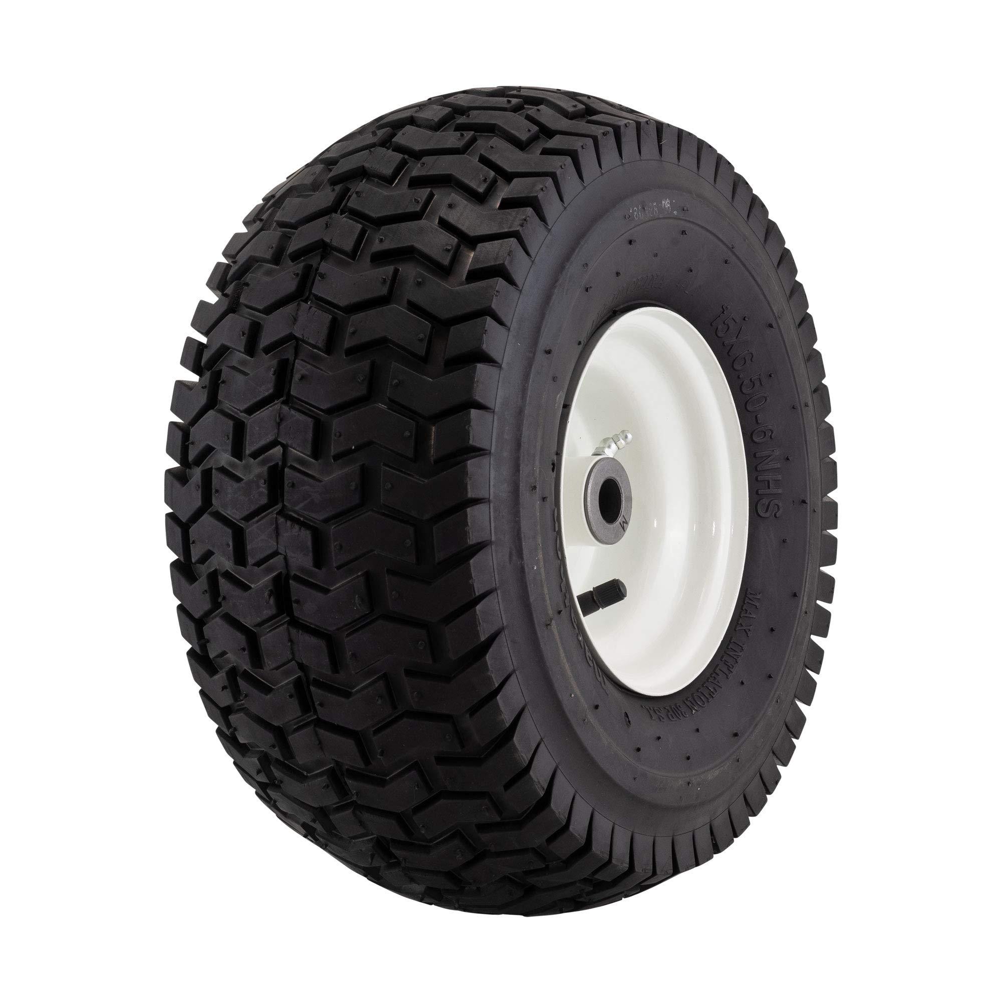 Marathon 15x6.50-6'' Pneumatic (Air Filled) Tire on Wheel, 3'' Hub, 3/4'' Bushing