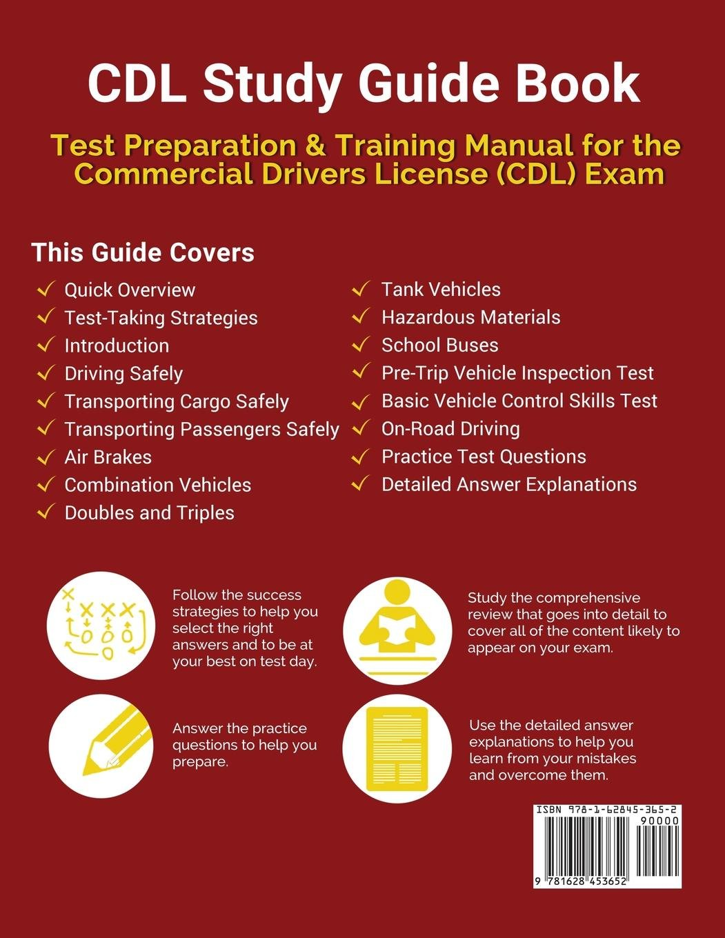 CDL Study Guide Book: Test Preparation & Training Manual for the Commercial  Drivers License (CDL) Exam: (Test Prep Books): Commercial Driver's License  Test ...