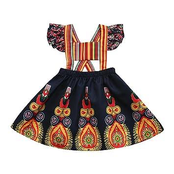 Vestido de bebé niña Xinantime Vestido de princesa Vestidos florales de Boho del desfile de la