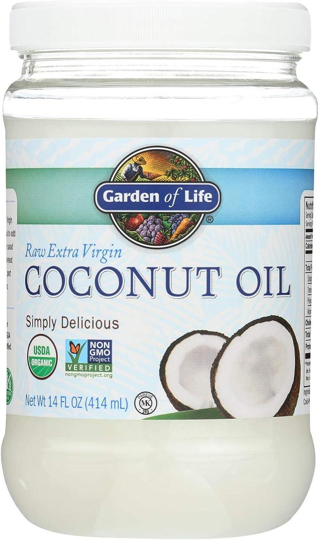 GARDEN OF LIFE, Organic Coconut Oil,Raw Extra Virgin, Pack of 6, Size 14 FZ - No Artificial Ingredients Gluten Free Vegan 95%+ Organic
