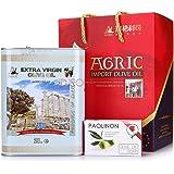 AGRIC 阿格利司 特级初级橄榄油 铁桶精装礼盒 2L(希腊进口)