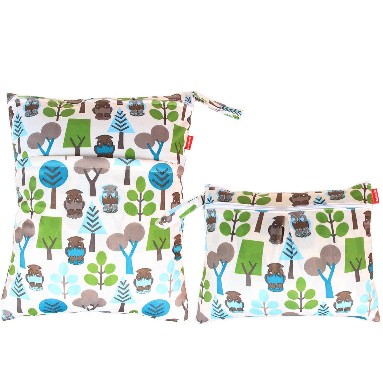 Damero 2 pièces Sac à couche -- Organisatuer à couche humide et sales vêtements, Sac fourre-tout, Arbres