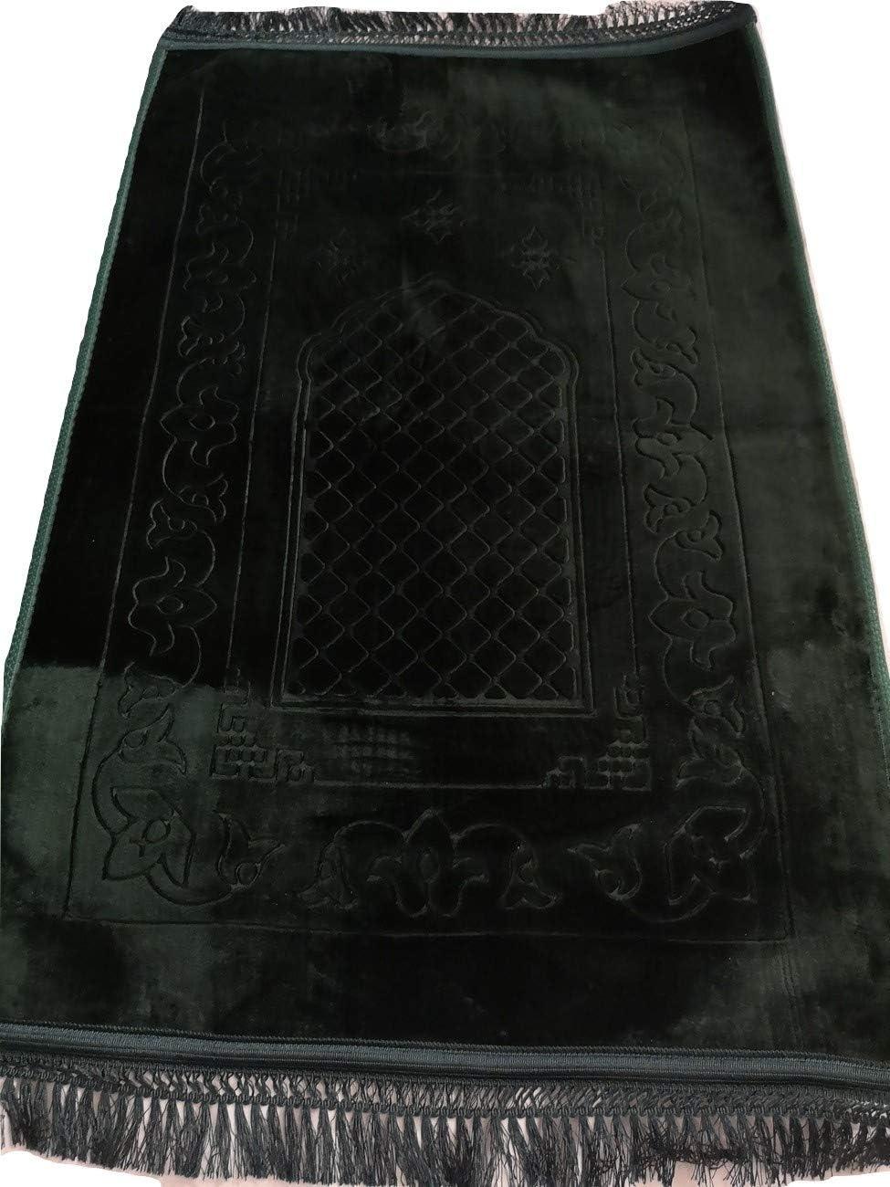 120cm x 80cm Sansar Cushion Padded Muslim Islamic Prayer Mat Musalah Namaz Rug Chocolate Brown