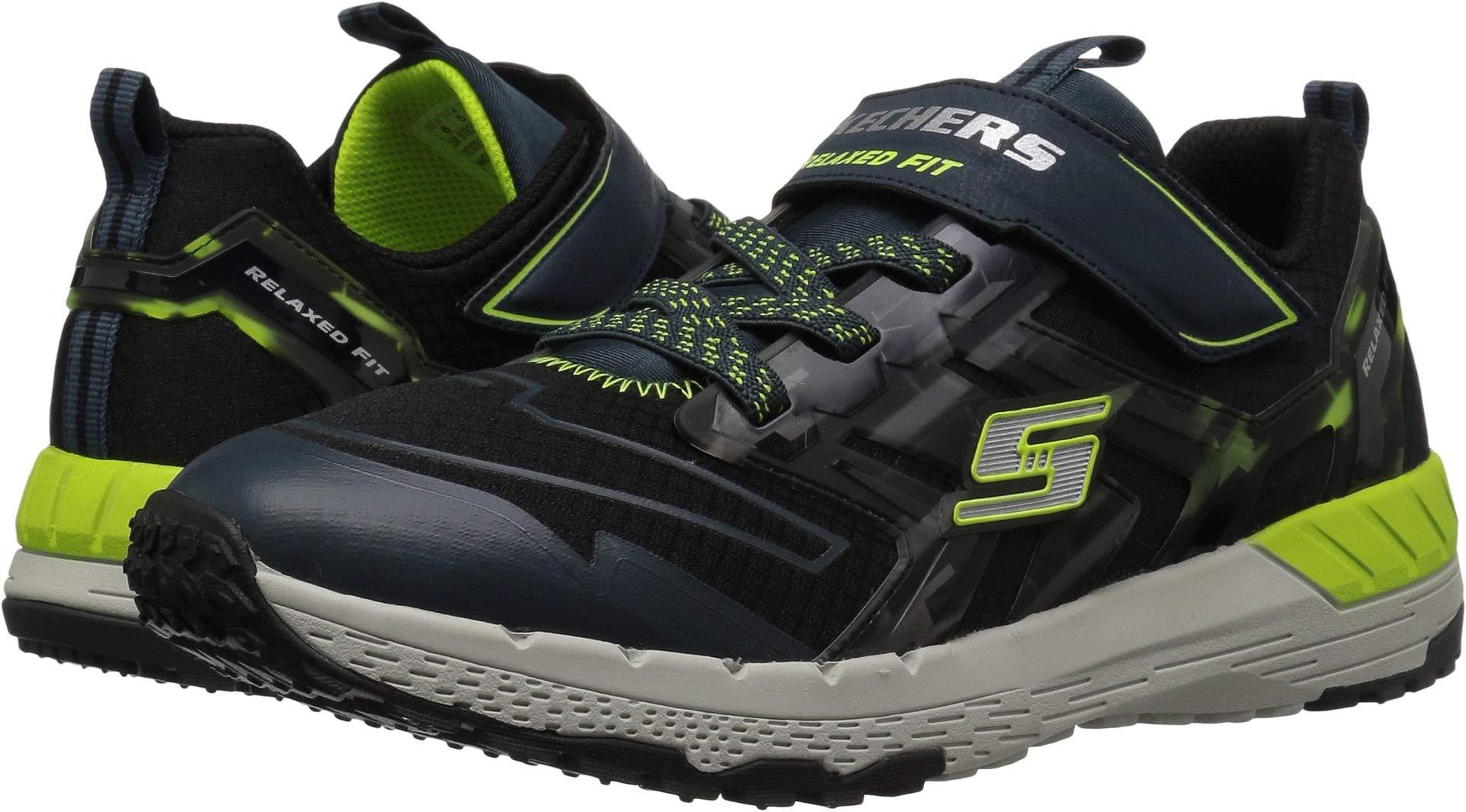 Skechers Kids Boys' Hyperjolt 2.0-Tech Sprint Sneaker, Black/Blue, 13 Medium US Little Kid