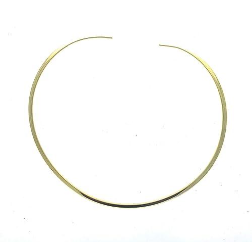 Amazon.com: Brillante Oro Ronda 4 mm alambre de Gargantilla ...