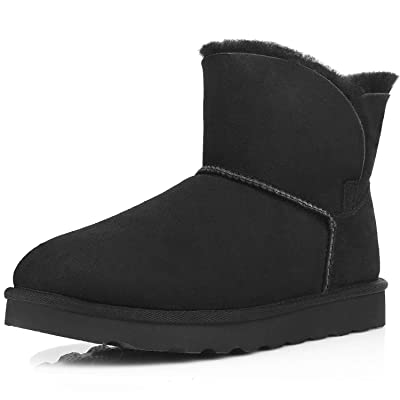WaySoft Genuine Australia Sheepskin Snow Winter Boots for Women, Classic Water Resistance Shearling Boots Women | Snow Boots