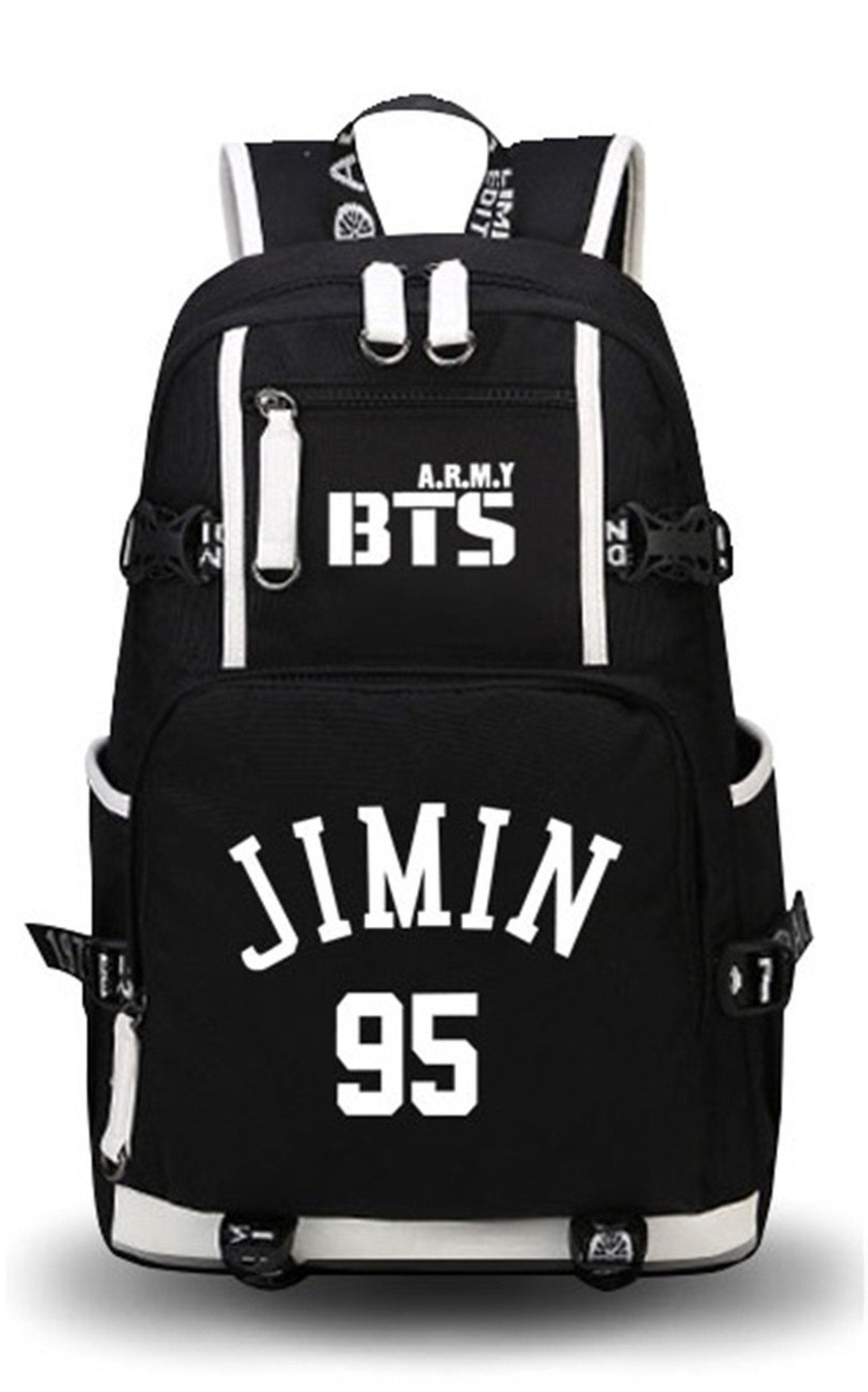 JUSTGOGO Luminous KPOP Bangtan Boys BTS Daypack Laptop Bag College Bag Bookbag School Bag Backpack